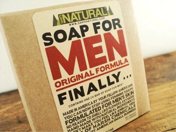 Soap for Men Made Specifically for a Man's Skin Made with Natural Ingredients Man Soap Gifts for Men