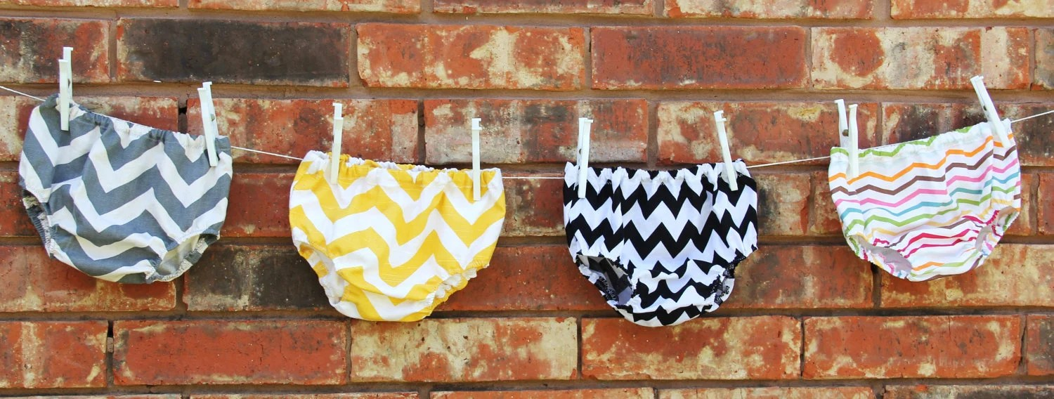 Chevron Stripe Diaper Cover, Choose Your Fabric Diaper Cover