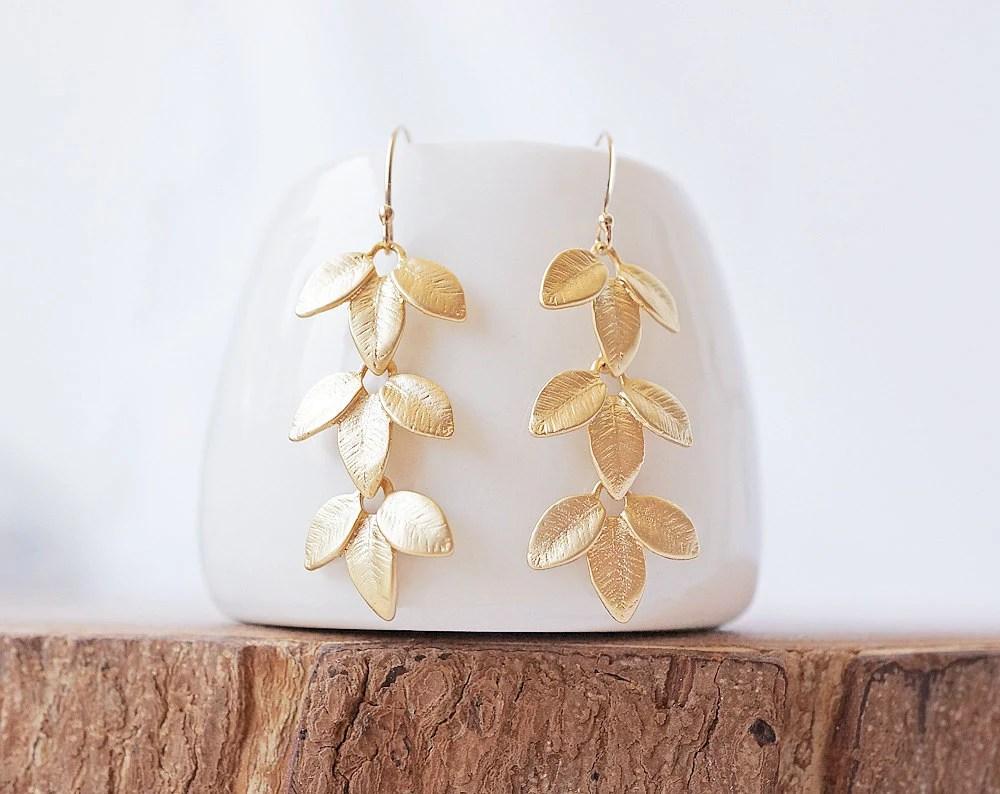 Gold Petiole Earrings - 14k Gold Filled Round Ear Hooks