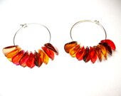 Fall Leaves Hoop Earrings: Terri Jean's Adornments