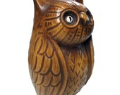 Vintage Owl Bank - Ceramic Figurine, 1960s 1970s Vintage California Coin Bank - AGoGoVintage