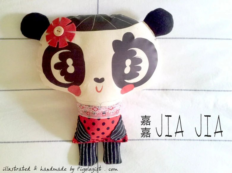 Panda Doll Handmade Plush Cushion - Jia Jia from Singapore