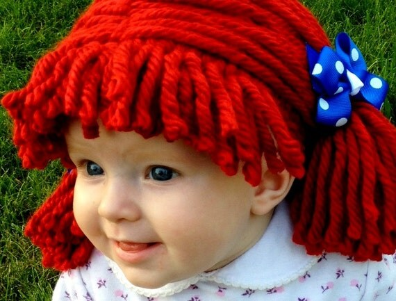 Raggedy ann wig- YumBaby  sc 1 st  Amyu0027s Art Table & best handmade baby and kids halloween costumes - Amyu0027s Art Table