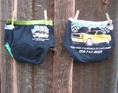 Set of Two, Upcycled T shirt  potty training underwear, Size 3T boys