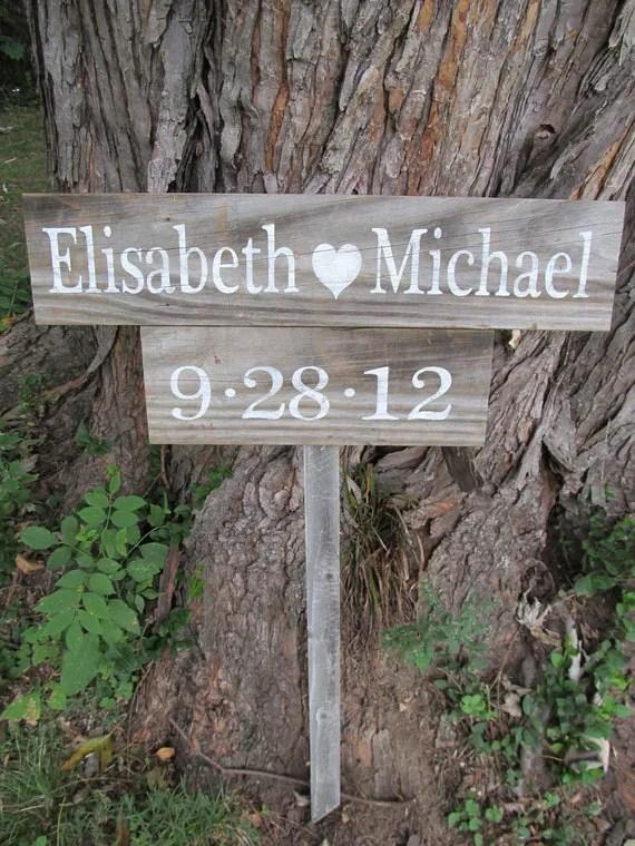 bride heart groom wedding sign etsy