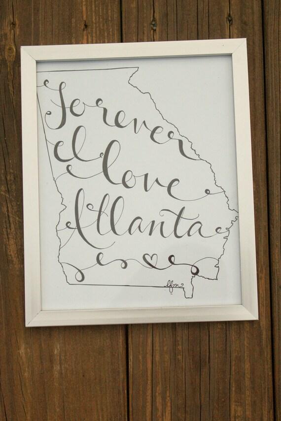 Georgia: Forever I Love Atlanta Print