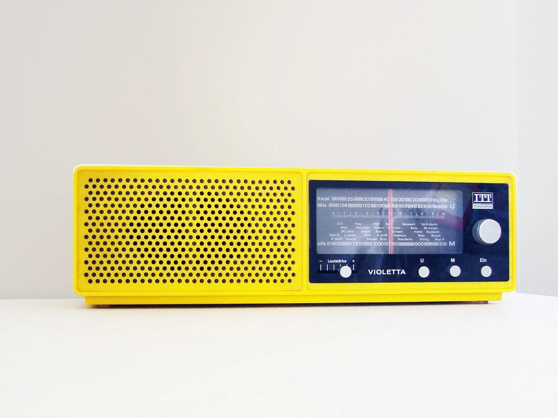 vintage yellow radio