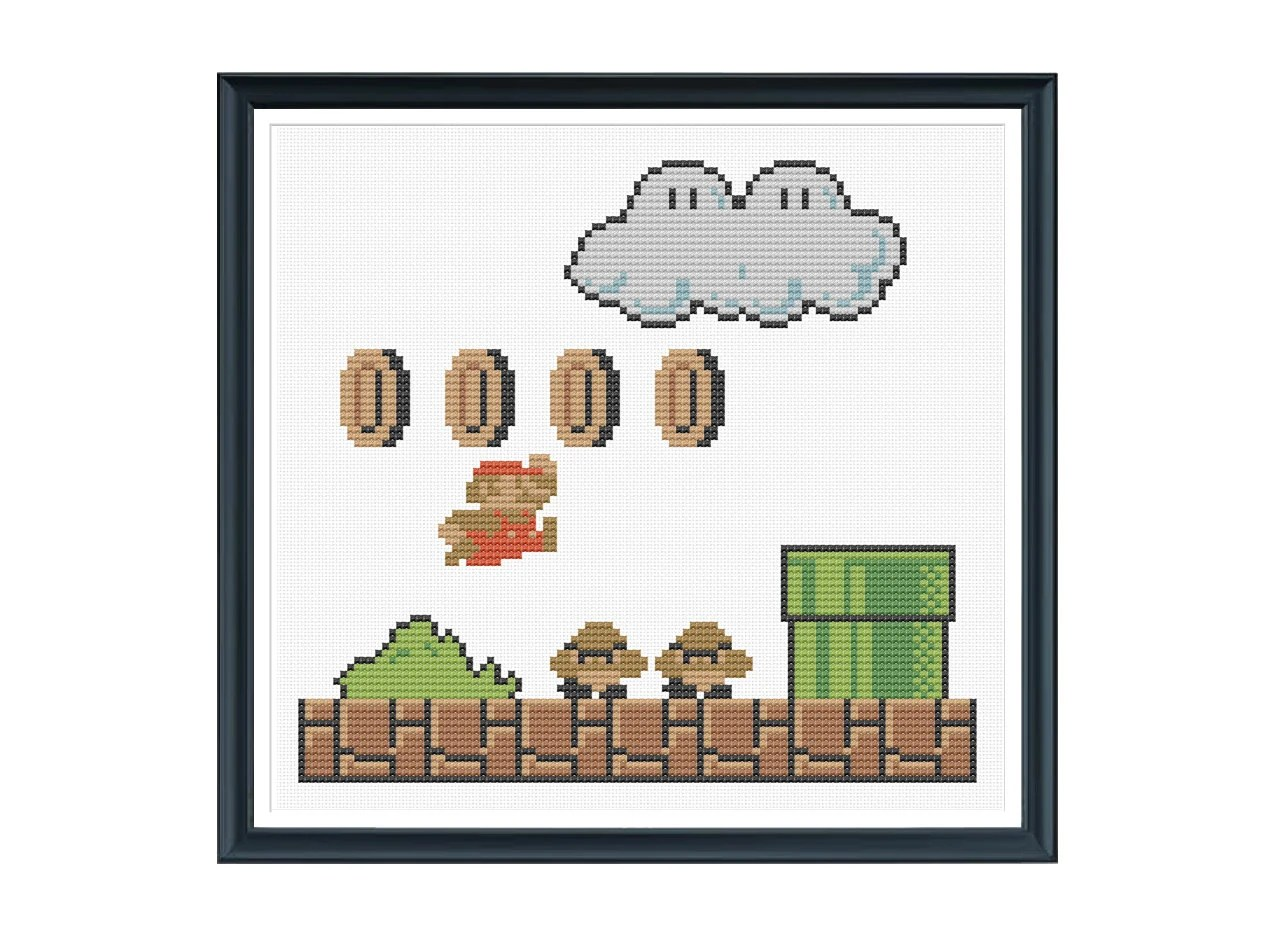 Retro Super Mario Cross Stitch Pattern Instant Download