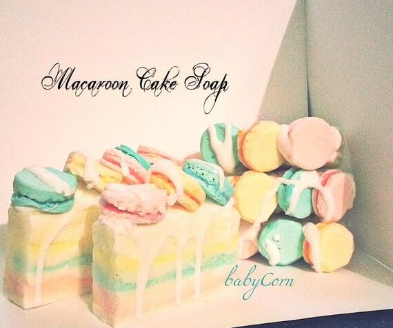 Macaroon Cake Soap Glycerin 5 oz.