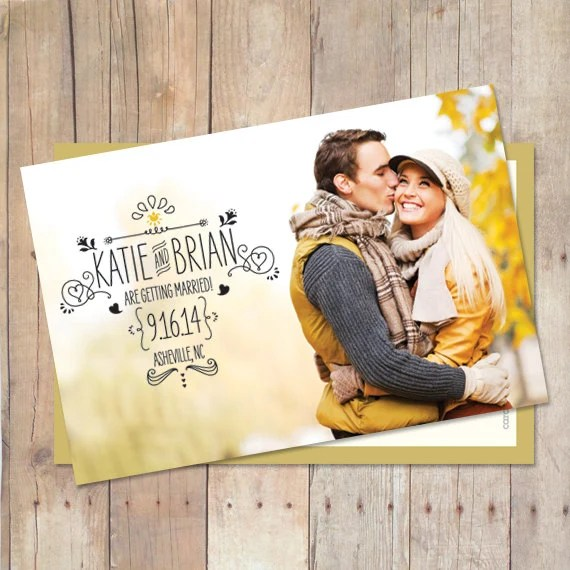 Save The Date Postcard or Magnet - Sooo Sketchy Engagement Card
