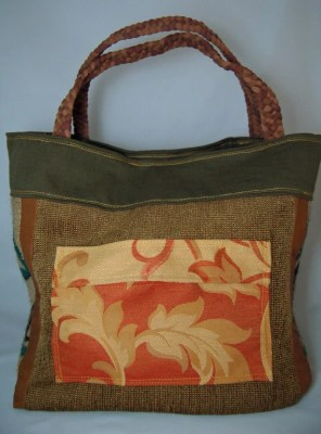 Upcycled Leather Monte Bag