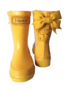 Timber & Tamber Rain Boots Rubber Gumboots Yellow