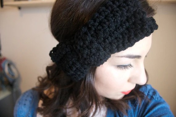Handmade Crochet Bow Headband - Made to Order - Any Color - Hair Accessory