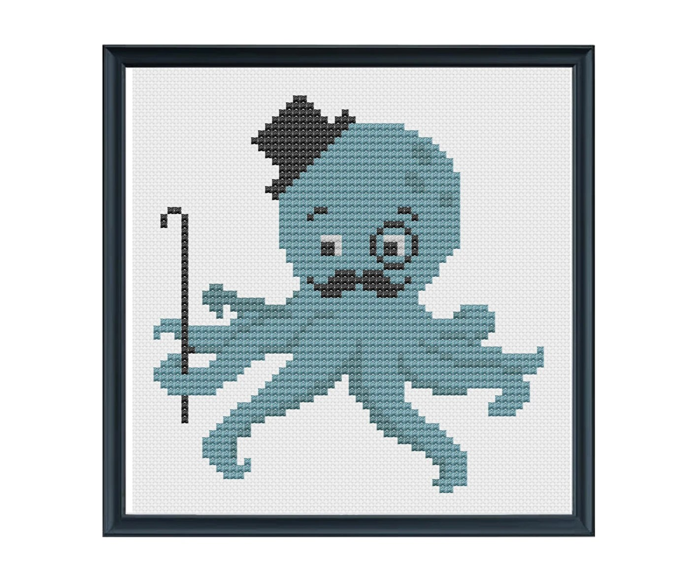 Gentleman Octopus Cross Stitch Pattern PDF Chart