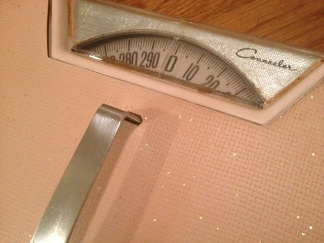 Vintage 1950s Counselor pink bathroom scale