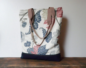 Canvas tote bag flower urban bag strong shoulderbag marketbag shopping bag - SKMODELL