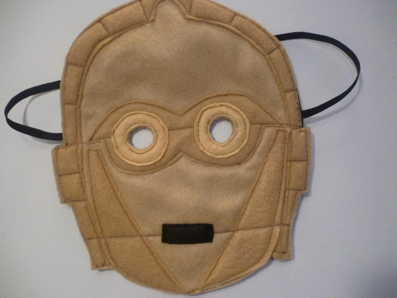 C3P0 Mask by MummyHughesy on Esty