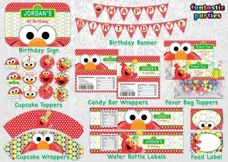 Diy elmo party ideas with free printables from rays of bliss elmo birthday party printable decoration pronofoot35fo Choice Image