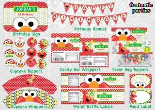 Elmo Birthday Party Printable Decoration I Made A Custom Sesame Street