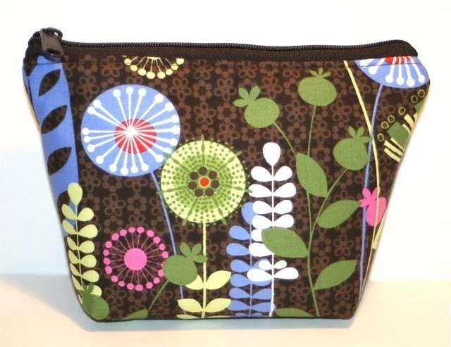 Wildflower Zippered Flat-bottom Cosmetic Bag/Zippered Pouch