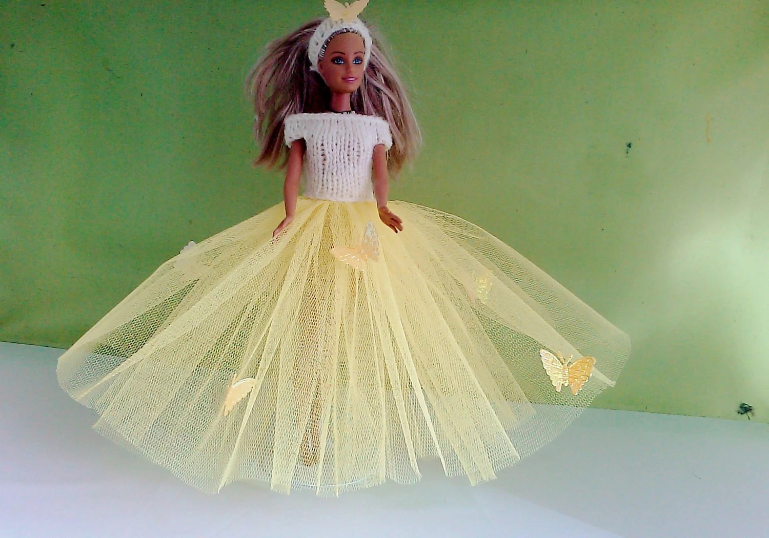 New handmade ROYAL WEDDING inspired wedding dress- barbie/sindy dolls clothes    762  x  57