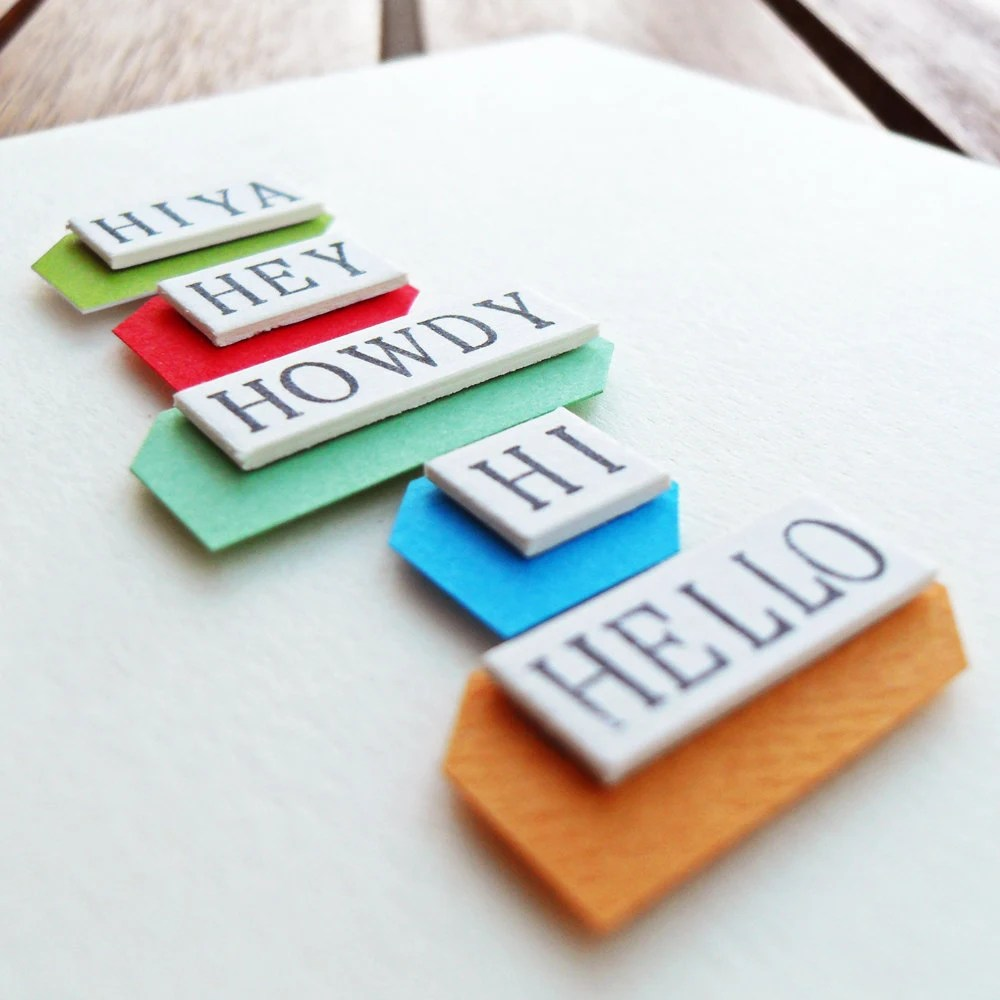 Hiya Hey Howdy Hi Hello Blank Greeting Card