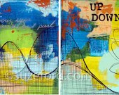 Roller Coaster inspirational Original oil paintings on Canvas (diptych)