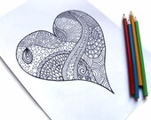 Coloring Pages, Set of 3 Printable Zentangles