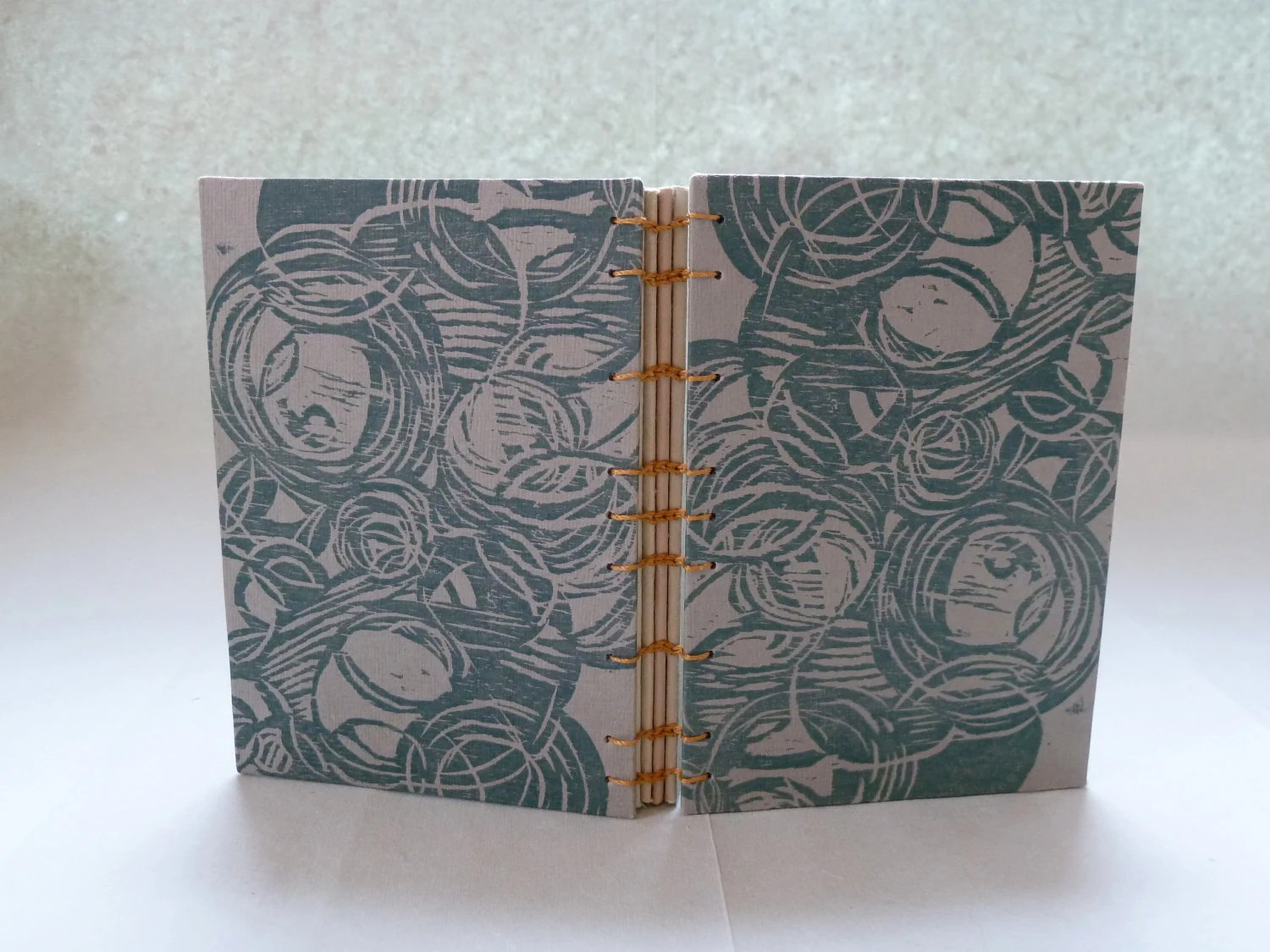 Notebook: tranquility block print - ImperialePrints