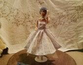 BARBIE DOLL CLOTHES- Dress,  petticoat,  hat , poncho,  (nannycheryl original ) 880  x  82