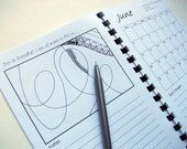 "2012 Planner, Zentangle Inspired, ""Do-a-Doodle Diary"", Month to View"