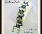Hannah Rosner cuff bracelet peyote stitch bead pattern celtic knotwork
