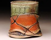 Cup (Fall2011), textured & woodfired