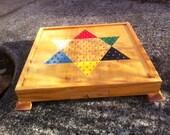 Hardwood chinese checkerboard
