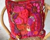 Pandoras Cushion Cover Free Form Crochet Tutorial PDF