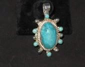 Turquoise Classic style pendant 7 matching stones