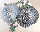Love Bravely Wirework Mermaid Necklace