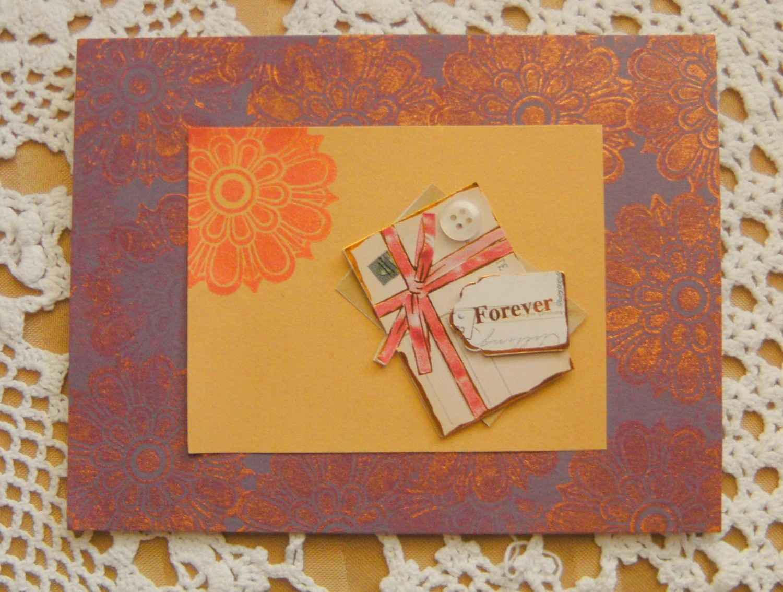 Forever Love Vintage Style Handmade Card