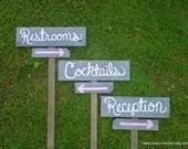 Grey Wedding Signs Directional Arrow Sign. 3 Wedding Sign Package. Arrows in Color. Shabby Wedding. Eco Bride. Outdooor Wedding Decorations