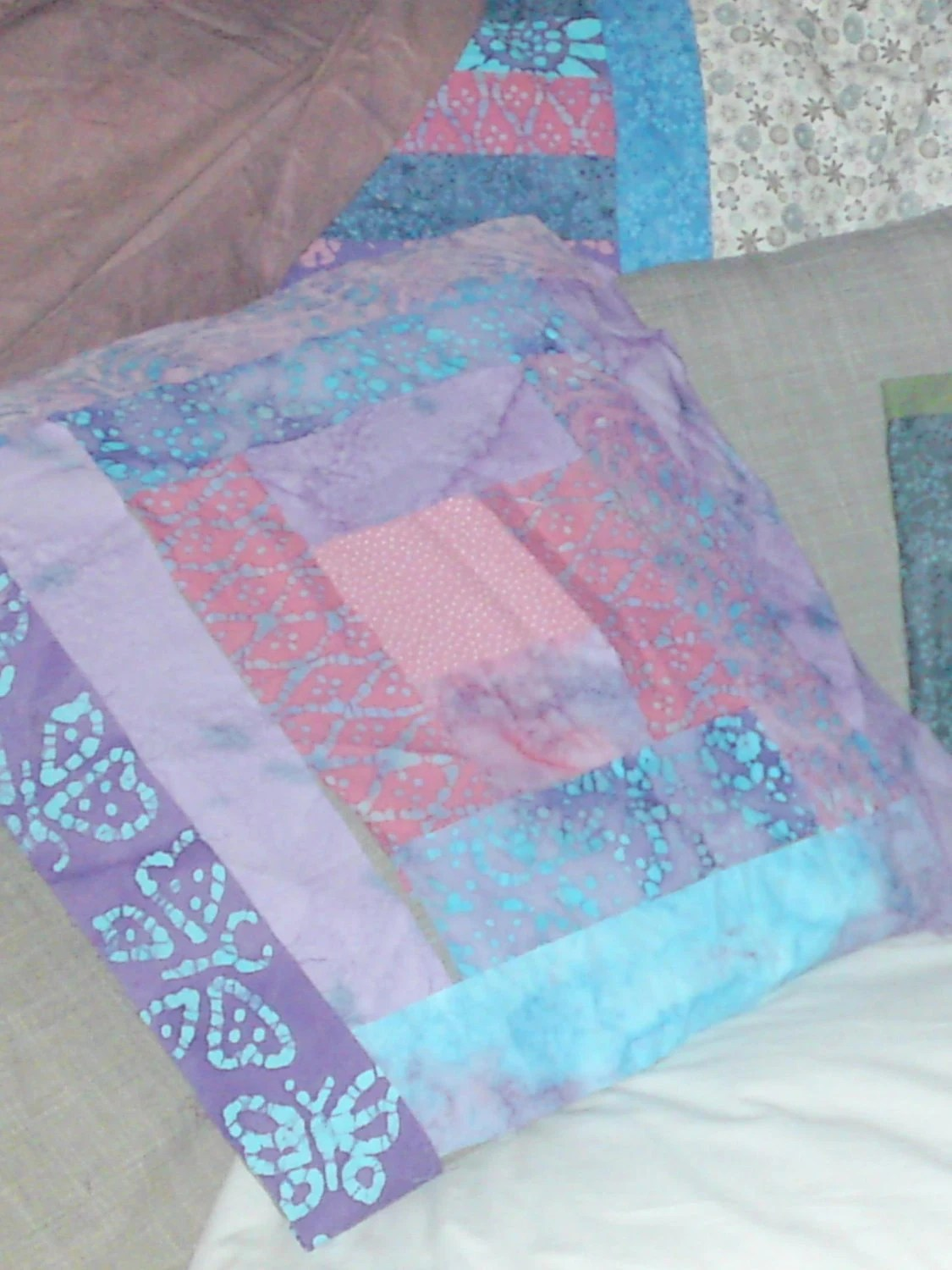 Make Your Own Patchwork Cushion Log Cabin Batik