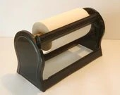Vintage Industrial Chic General Store Butcher Paper Black Metal Cutter with Paper Roll