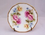 Vintage Queens's Staffordshire Fine Bone China Small Dish, Vintage Rose Pattern Dish, English Vintage, UK Seller