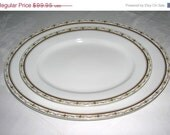 On Sale 2 Vintage 1900 Moritz Zdekauer Austria China Platters Stunning