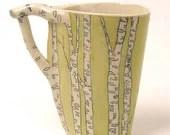 Birch Tree Mug - Chartruce - JosiesPotShop