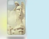 iPhone 4 Case: New Orleans Angel Original Photography  blue white clouds pastel - Gallery32Photography