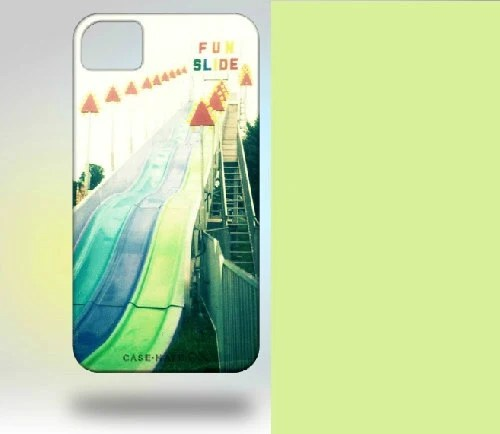 iPhone 4 Case: Polaroid Carnival Fun Slide blue green orange - Gallery32Photography