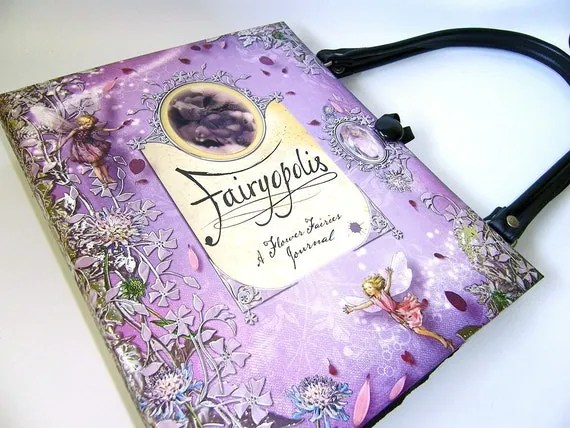 Handmade Fairyopolis Book Purse: Altered Book Handbag
