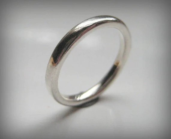 Sterling Silver Round Ring Band