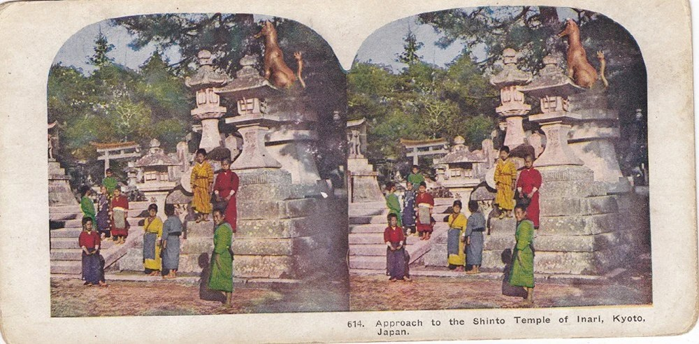 Japan Stereoview Card from Late 1800s-095