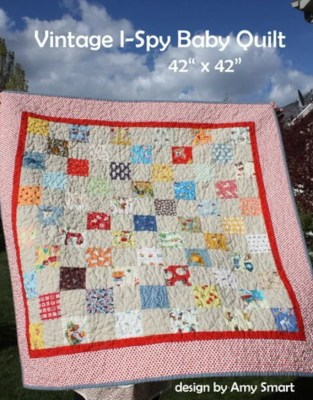 "65 (3.5"") I-spy quilt blocks and pattern"